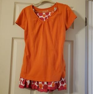 Orange and pink outfit